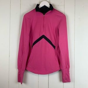 Nike Quarter Zip Top Small Dri Fit Pink